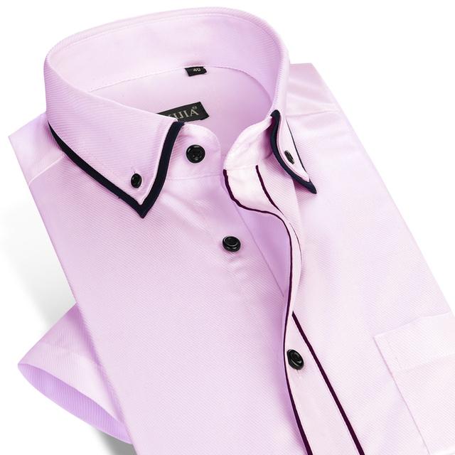 Новое мужчин с коротким рукавом рубашка свободного покроя тонкой лето стиль мода ...