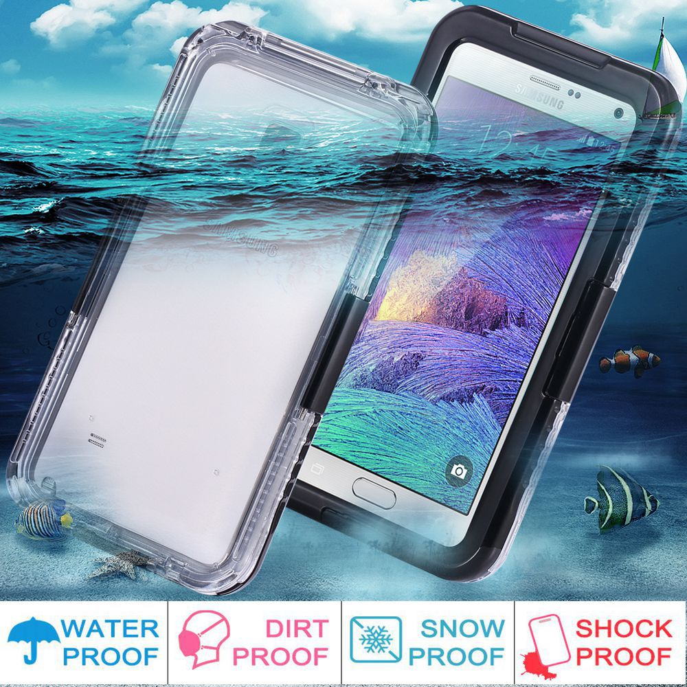 Swimming Waterproof Cases For Samsung Galaxy Note 4 3 5.7inch Phone Screen Diving Underwater Protective Cover Capa Shell(China (Mainland))