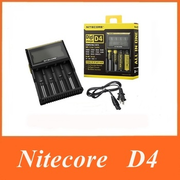 2015 Original Nitecore D4 Digicharger LCD Display Battery Charger Universal Nitecore Charger +Retail Package
