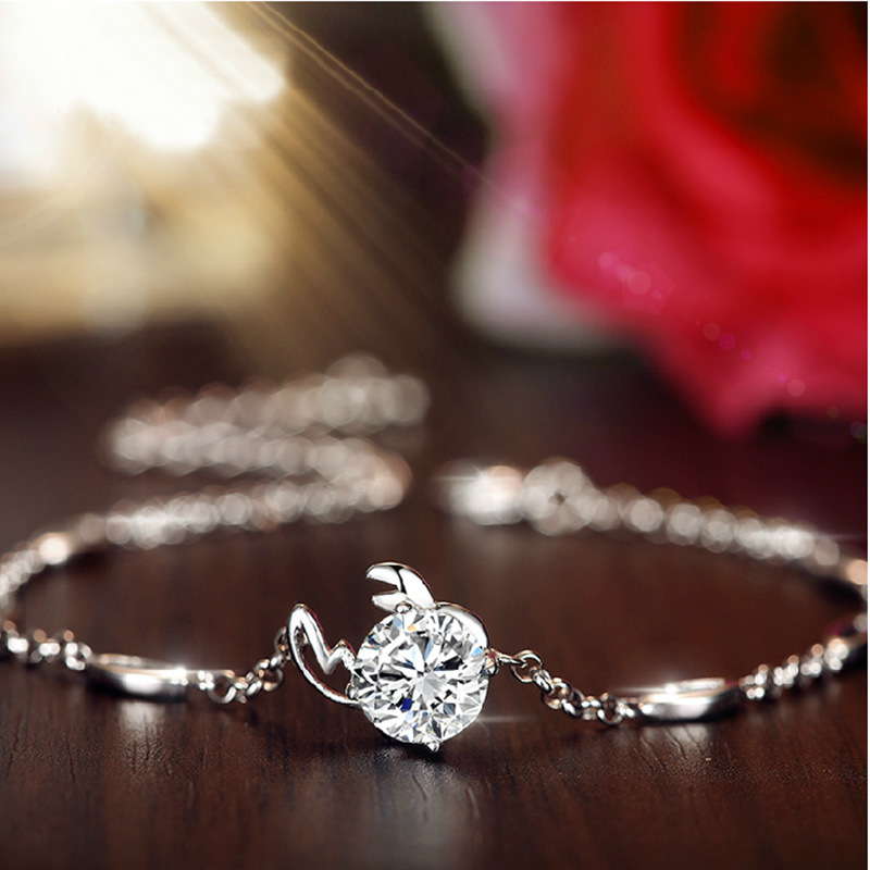 Luxury Crystal Jewelry Trend 925 Silver 12 Constellatio Bracelets For girls Animal Form Zircon Chain Bracelet pulseras mujer