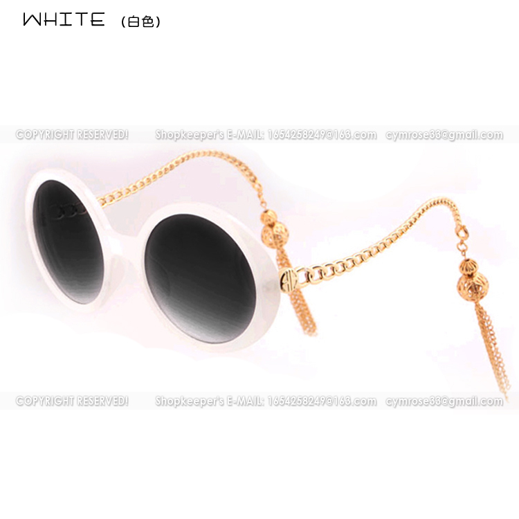 SG-015 unpolarized sunglasses Anti-UV Luxury Branded mods removable tassel metal totem chain legs women - BEACH LIFE store