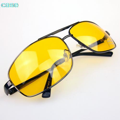 Hot sale 2015 fashion Glasses Driver HD High Definition Night Driving Vision Sunglasses Yellow Lens wholesale(China (Mainland))