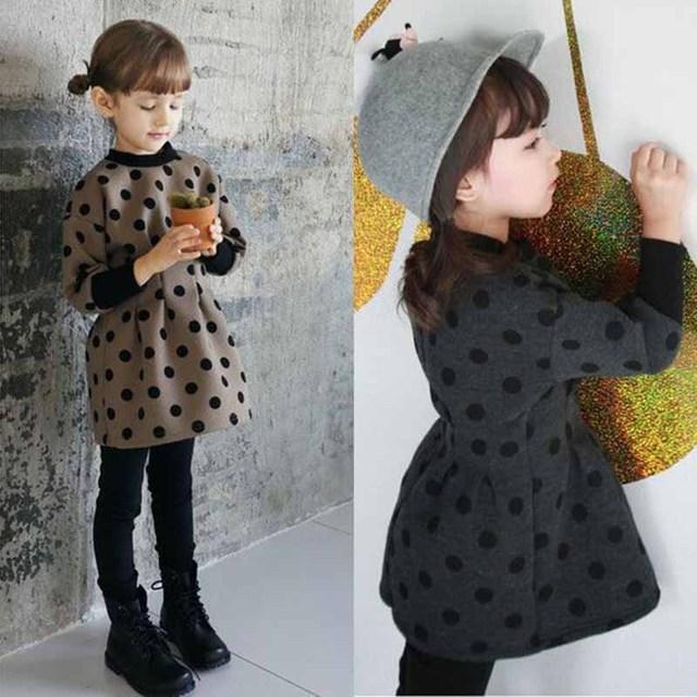Весна и осень детской одежды 2015 девушки с длинными рукавами свитер корейский точка ...