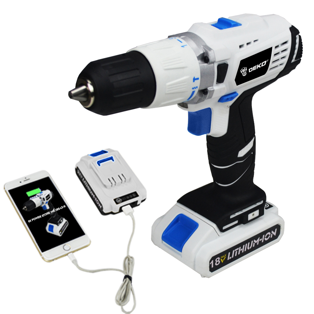 18V DC New Design Mobile Power Supply Lithium Battery Cordless Drill Free shipping(China (Mainland))