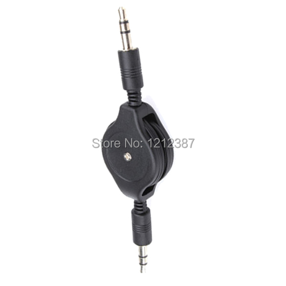 New 3 5mm Stereo AUX Auxillary Retractable Audio Male to Male Date Cable Cord For iPod