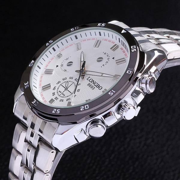 Black Stainless Full Steel Watch Analog Quartz Male Clock Flight Hour Mens Wrist Casual Fashion Sport Cool Waterproof Watch