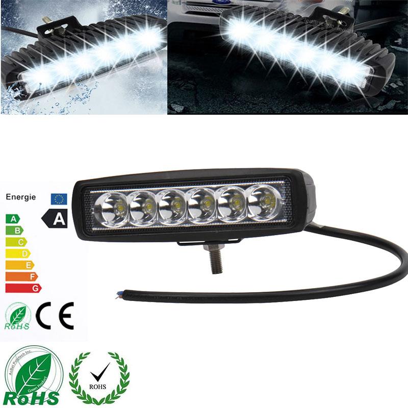 1800 LM Mini 6 Inch 18W 6 x 3W Car CREE LED Light Bar as Worklight / Flood Light / Spot Light for Boating / Hunting / Fishing(China (Mainland))