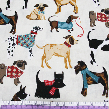 45426 50*147CM Various dogs printed cotton fabric for Tissue Kids Bedding textile for Sewing Tilda Doll, DIY handmade materials