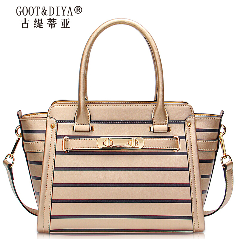 Famous Brands top quality leather women bag 2015 summer new fashion hit color striped handbag Small square bag Platinum Package<br><br>Aliexpress