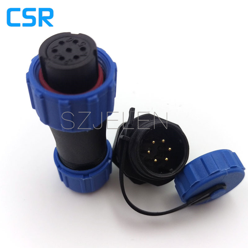 SP1310, 6 pin Waterproofreversal connector plug and socket IP68, Female plug, male socket,Aviation cable panel Connector(China (Mainland))