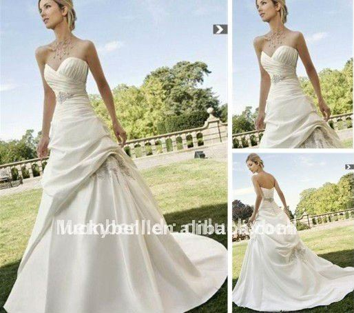New Fabulous Ruffle Sweetheart Wedding dress distributor