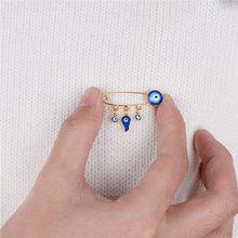 Stile etnico Blu Dell'occhio diabolico Spilla & Spille Per Le Donne Degli Uomini di Modo di Colore Dell'oro Del Cuore Uccello Elefante Fascino Spille Animali gioielli(China)