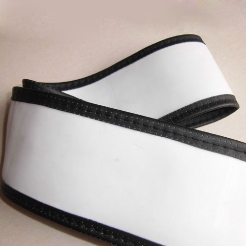 New Fashion PU Leather DIY Car Steering Wheel Cover With Needle and Thread Black Free Shipping