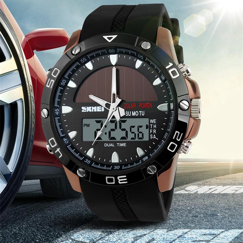 SHOCK 2015 Solar Power Digital Electronic Watches Men Sport Wristwatch Fashion Casual Dress Watch Multifunction Waterproof 110 g(China (Mainland))