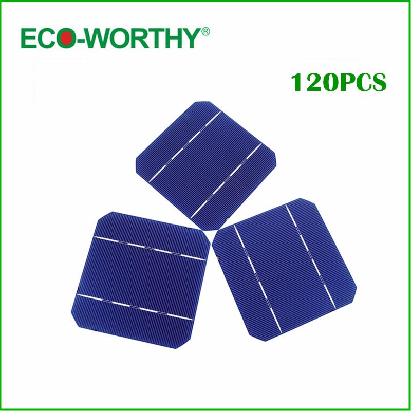Solar Cells DIY Solar System 120 Pcs 5x5 A Grade Mono Solar Cell(China (Mainland))