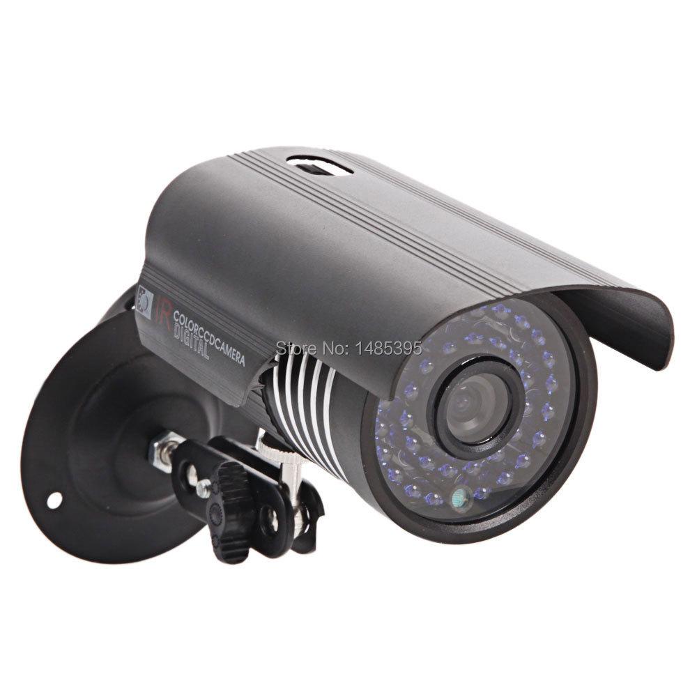 Гаджет  Free Shipping CMOS 1200TVL Wide Angle Color Outdoor Waterproof IR Night Vision Surveillance Camera Black None Безопасность и защита