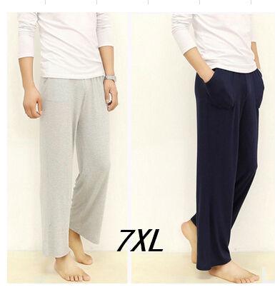 Плюс размер 7XL пижамные штаны 2016 весна лето мужчины свободные высокая талия пижамы ...