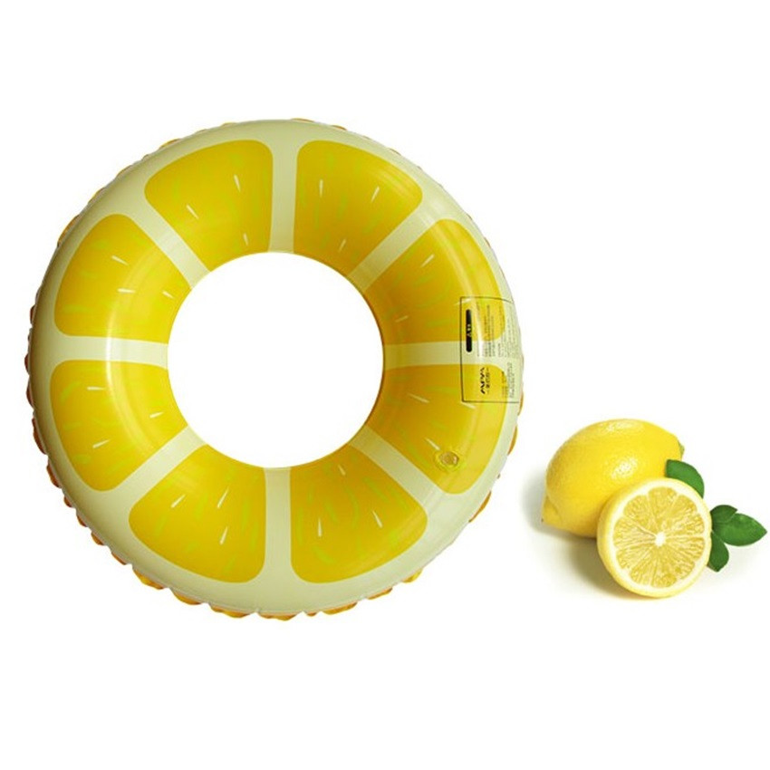 Funny Fruit Design PVC Thicken Floating Rings for Babys 60CM Swim Rings 4 Type Available(China (Mainland))