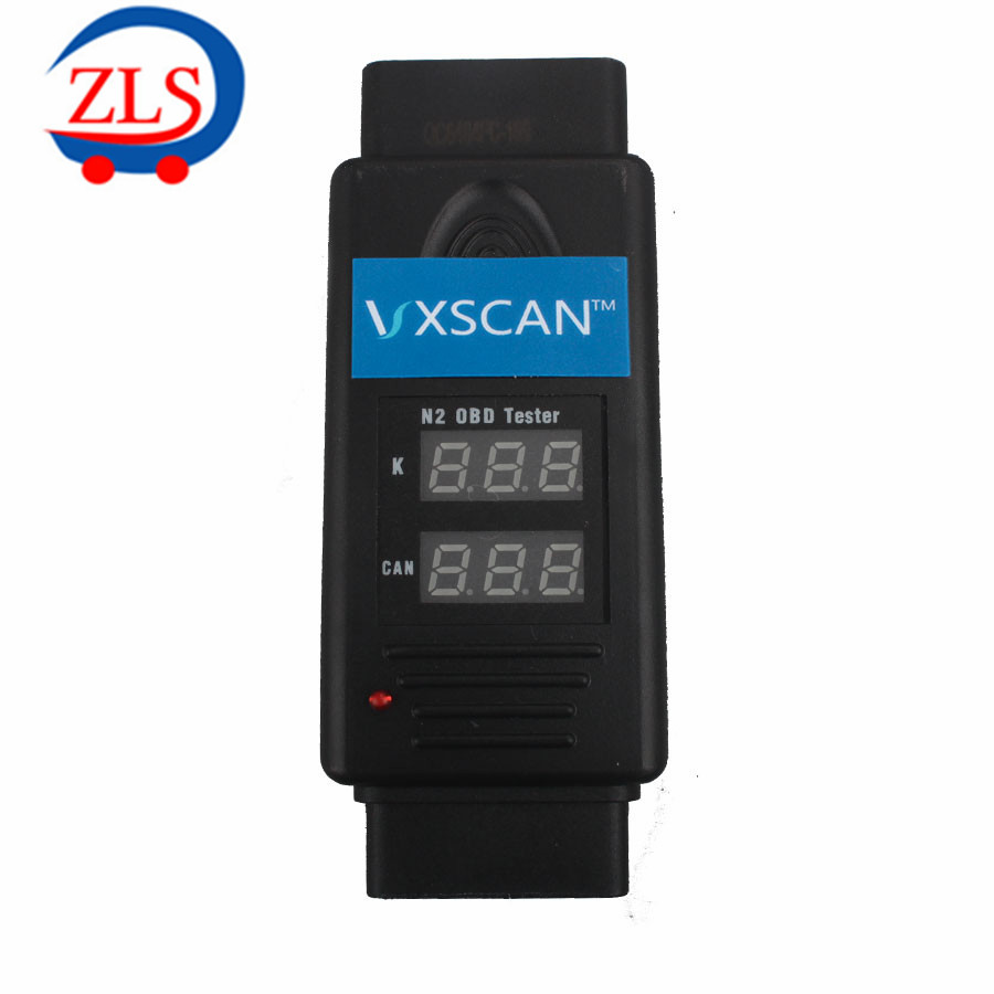 VXSCAN N2 OBD Tester for K and CAN Line Test works with K-line, CAN L and CAN H(China (Mainland))