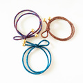 Rubber band hair rope around the bright beaded knotted hair rope hair accessories women s hair