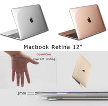 Transparent Crystal Plastic Hard Clear Laptop Shell Case Cover Skin For Apple New MacBook 12″ Retina Free Shipping