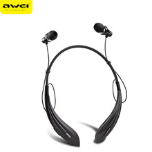 Universal Sport Bluetooth 4.0 Sport In Ear Earbud Bass Stereo sport Headset Earphone Wireless With Miccrophone Awei A810BL