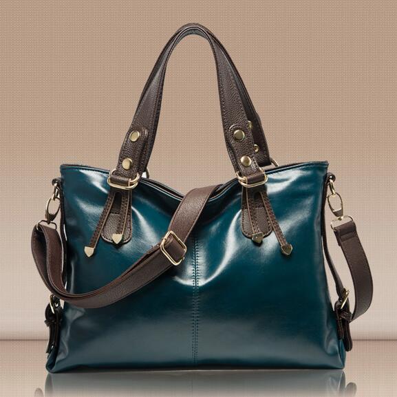NEW 2015 Classic Vintage Genuine leather Women's handbag Casual Messenger bags OL Fashion Ladies Cross body Shoulder bag 01