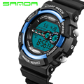 SANDA Famous Brands LED Digital Sports Watches Mens 30M Shock Waterproof Multifunction Men Wrist Watch Army