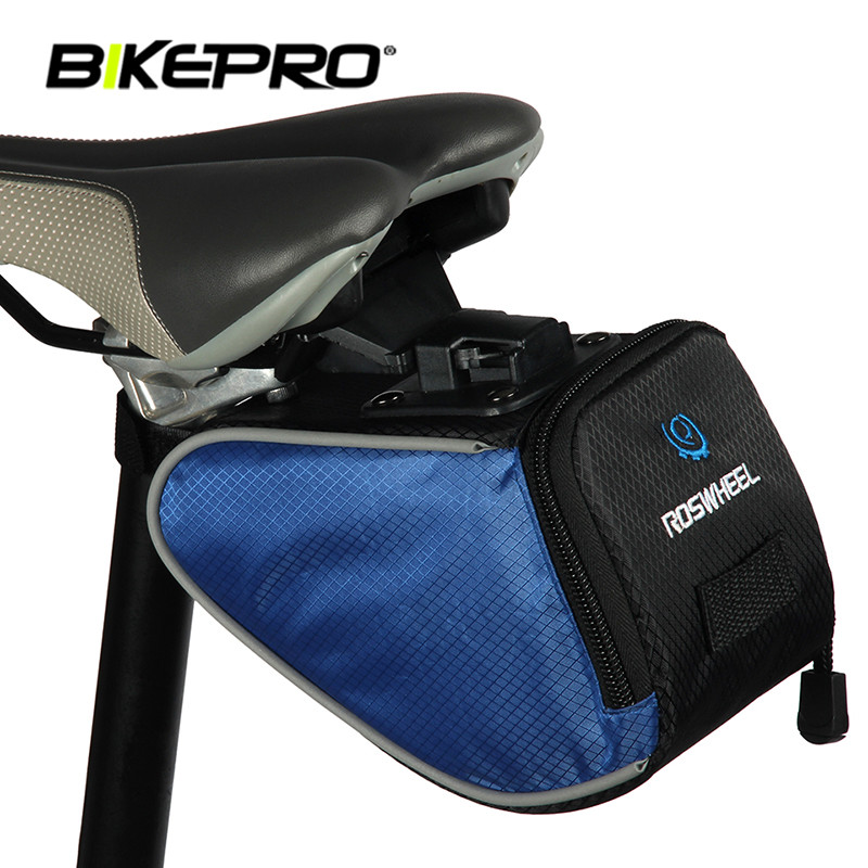 Large-capacity Light Folding Bike Saddle Bag Mountain Road Bicycle Tail Bags Pouch Cycling Back Seat Frame Bag Storage Package(China (Mainland))
