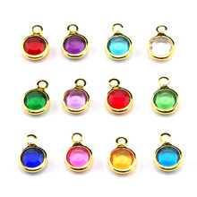 Buy Wholesale 120pcs/lot mixed gold & silver Birthstone floating charms 6mm Personalized Necklace free ring ) for $12.24 in AliExpress store