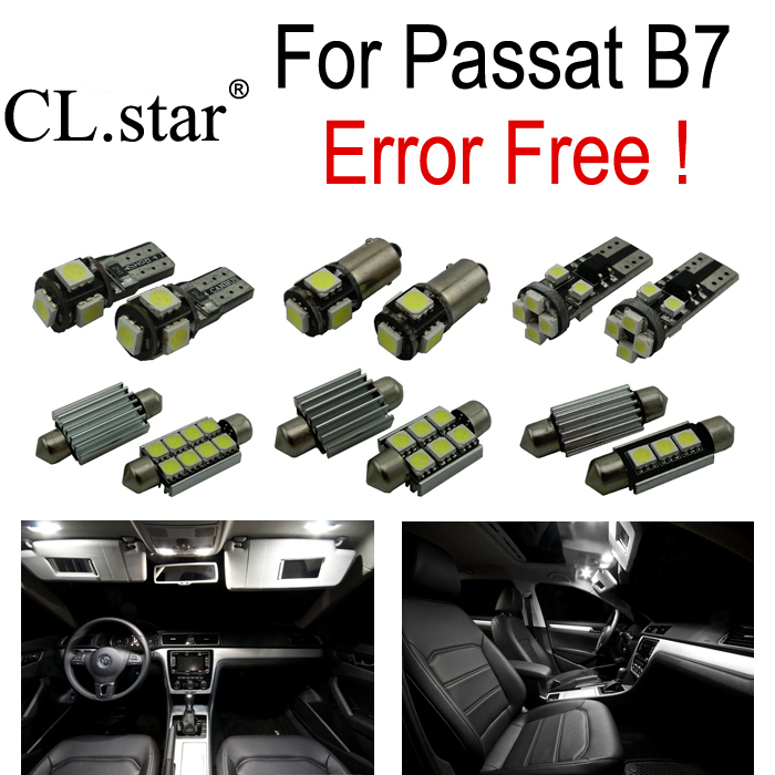 18pc X canbus Volkswagen VW Passat B7 Sedan ONLY LED lamp Interior Light full Kit license plate light package (2012+)  -  zsled Optoelectronic Limited Company store