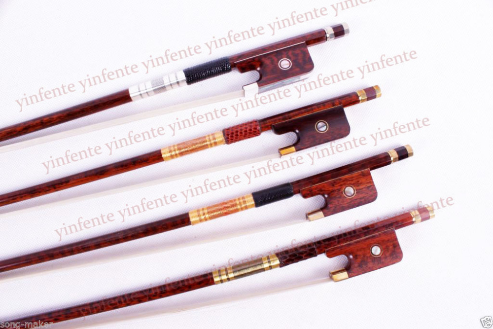 One cello bow Snakewood Round Stick French Style Parisian Eyes 4/4 New<br><br>Aliexpress