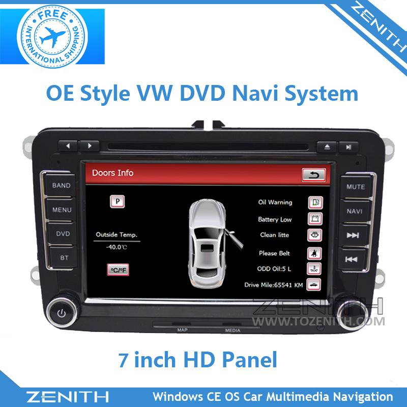 FREE SHIPPING FAW VW Original head unit vw rns510 volkswagen navigation (VW65S8) car info bluetooth RDS radio stereo(Hong Kong)
