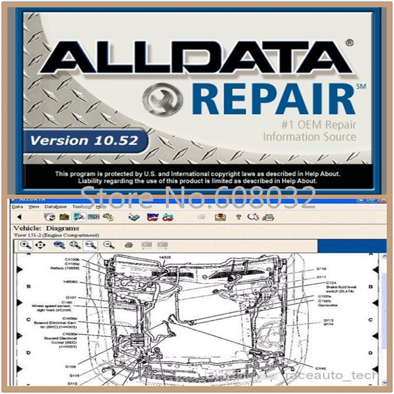 2016 ! High Quality Auto repair alldata software V10.53 auto diagnostic alldata in 750GB New HDD Technical support free shipping(China (Mainland))