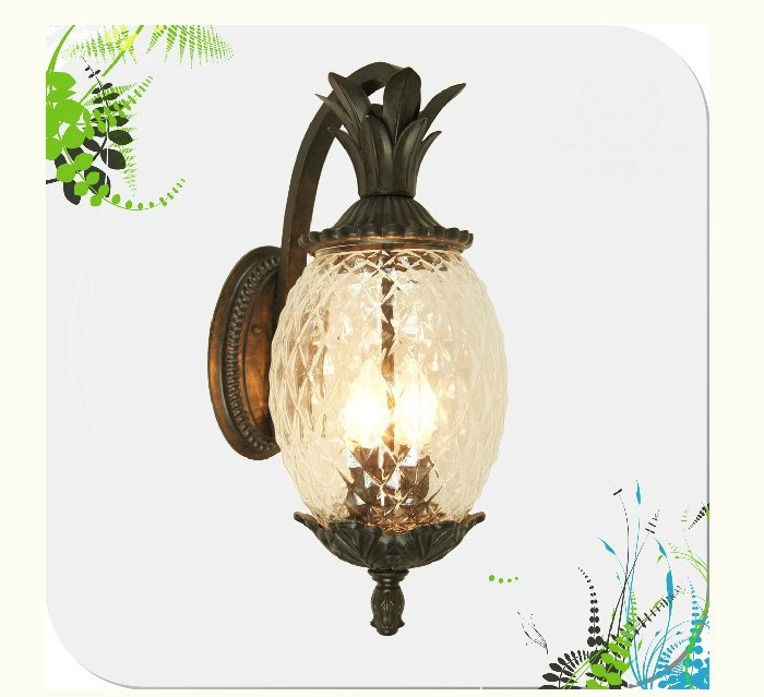 Здесь можно купить  European Style Outdoor Modern wall lamps Pineapple Shape Glass +Aluminum Garden Wall Lamp outdoor lighting  use E27 bulbs  Свет и освещение