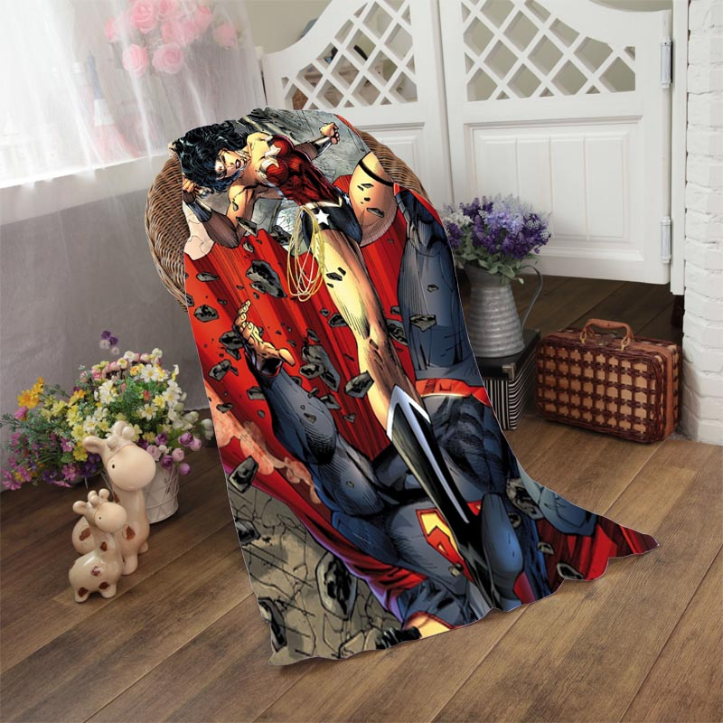 Superman And Wonder Woman Bath Towel 50*100cm,70*140cm,70*150cm,80*160cm beach towels(China (Mainland))