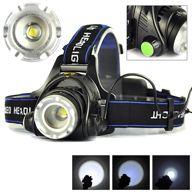 Hotest!Rechargeable 2000LM XM-L T6 LED Zoomable Headlamp Headlight 18650 Bike Bicycle Flashlight Head Light Outdoor Camping(China (Mainland))