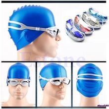 Hot Sale Non-Fogging Anti UV Swimming Swim Goggle Glasses Adjustable Eye Protect Adult(China (Mainland))