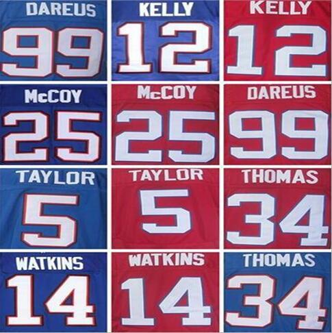 5 Tyrod Taylor Jersey,14 Sammy Watkins Jersey,99 Marcell Dareus,25 LeSean McCOY Jersey,Thurman Thomas Jersey M~XXXL(China (Mainland))