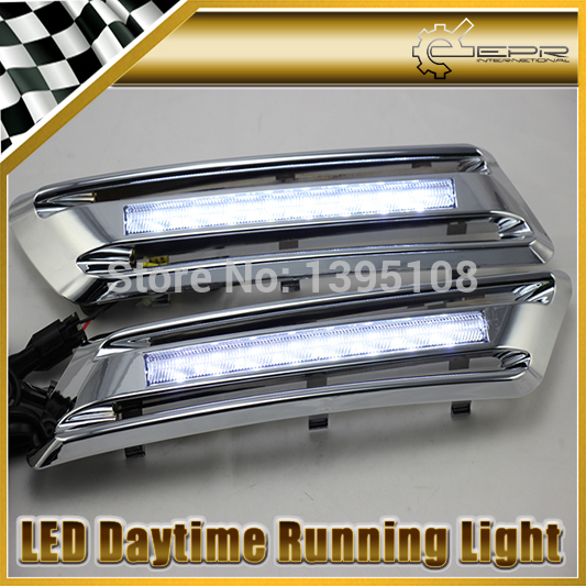 Фотография New Car Styling Auto Lamp For Toyota Highlander 2012-2014 Type D LED Daytime Running Light DRL Car Accessories