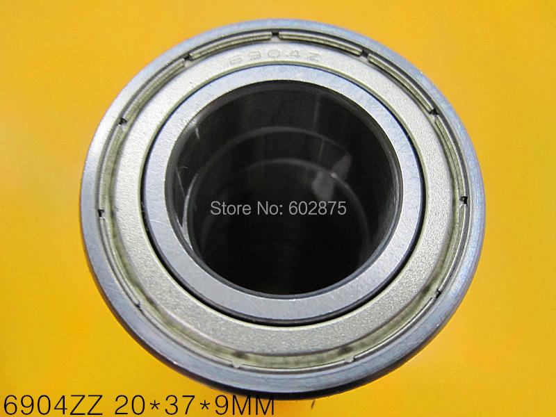 61904 Metal sealed bearing Thin wall bearing 10pcs/lot free shipping 6904 6904ZZ 20*37*9 mm chrome steel deep groove bearing(China (Mainland))
