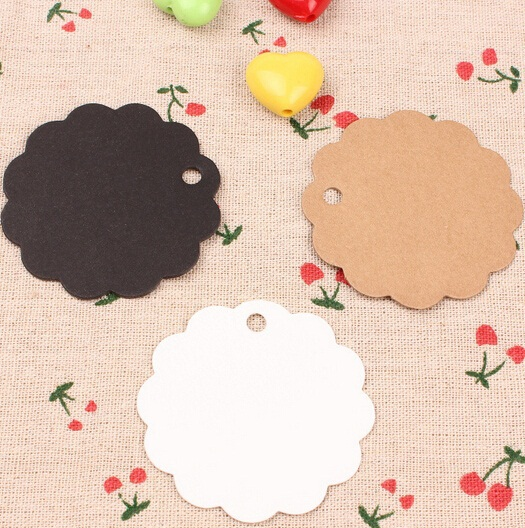 60mm/NEW Vintage Flower DIY Multifunction Kraft paper Gift tag/Bookmark/paper tags/plank paper Label/wholesale(China (Mainland))