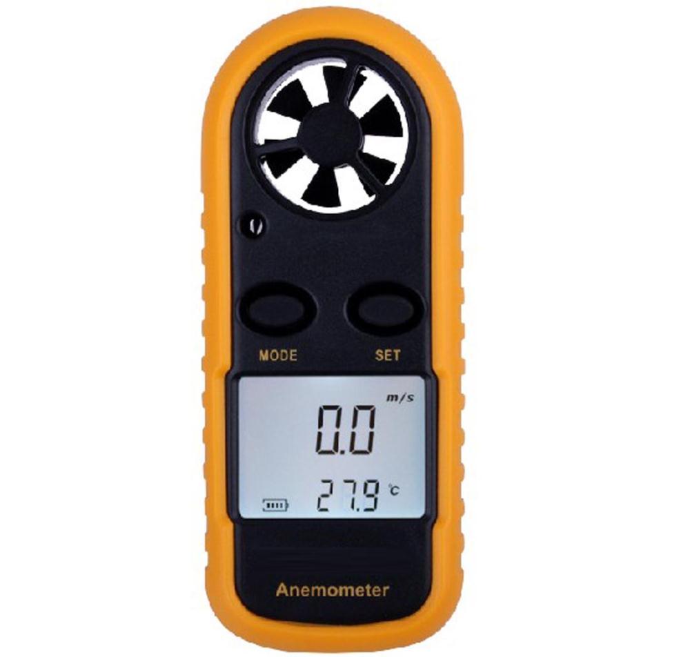 Digital Backlight Airflow Wind Speed Gauge Meter Anemometer