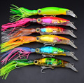 6pcs lot Squid Lure Wobbler 14cm 40g Sleeve Fish Fishing Lures Tackle For Trolling Bionic Artificial