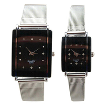 2015 New Hot New Elegant Classic Womens Mens Lovers Couple watches Quartz Stainless Steel Wrist Watch 2K5F 6T2P W2E8D