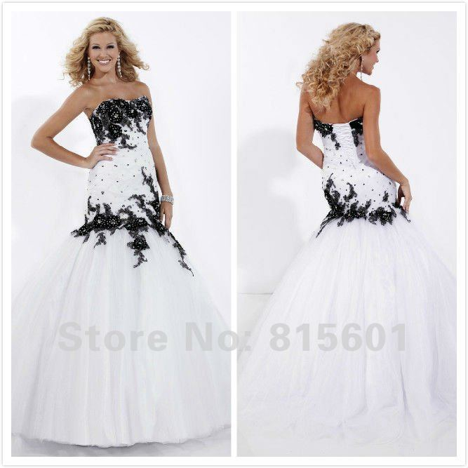 Collection Black And White Mermaid Dress Pictures - Reikian