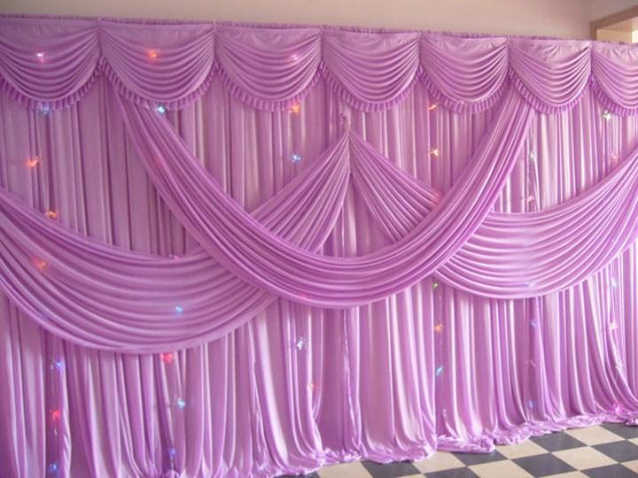 Romantic lavender Ice Silk Wedding Backdrops for Wedding