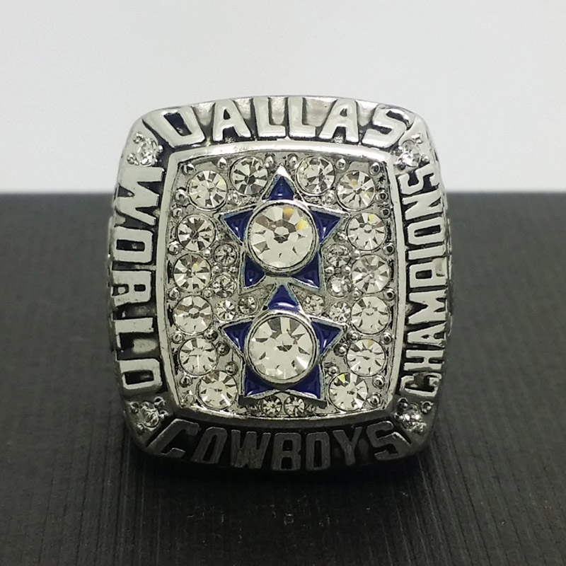 NFL 1977 Dallas Cowboys Football Super Bowl World Championship Ring 11Size 'Staubach' Fans Solid Back Gift Collection(China (Mainland))