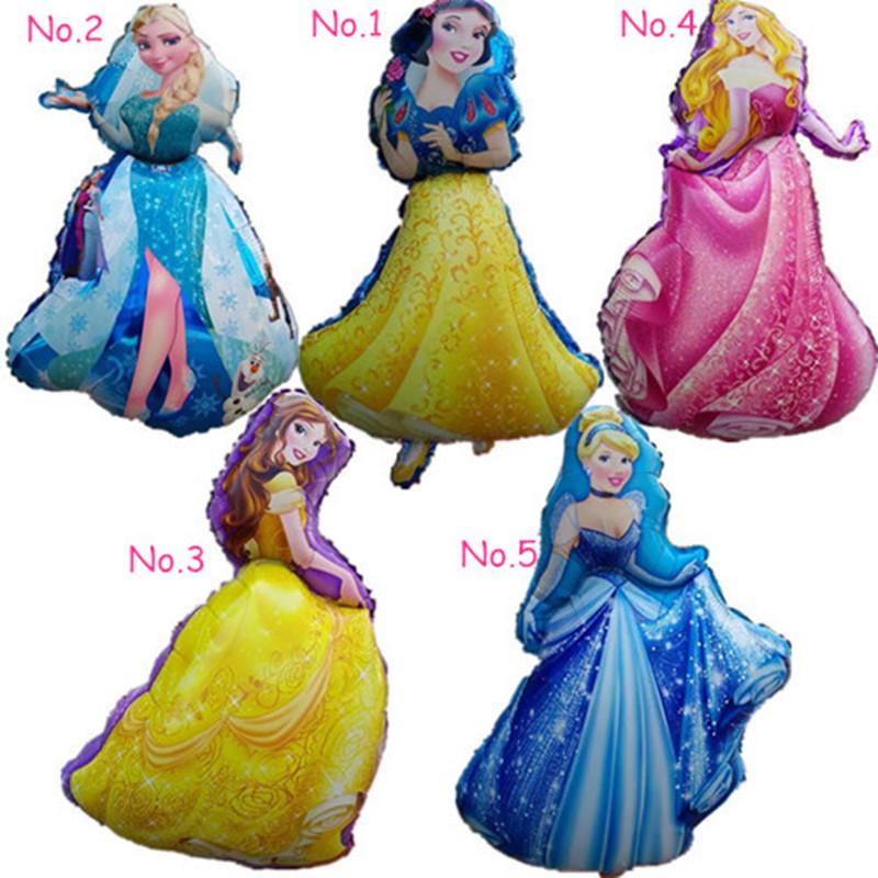 Гаджет  1pc 90cm Cartoon Princess Cinderlla Belle elsa foil balloons snow white kids Holiday gifts Birthday party decorations air ball None Игрушки и Хобби