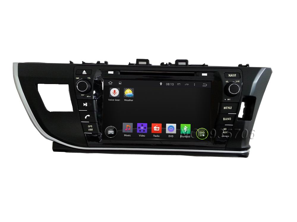 2din Pure Android 4.4 Car DVD for Toyota COROLLA  2014(right) with WIFI  GPS USB Capacitive screen 1024*600 Car radio car Audio<br><br>Aliexpress